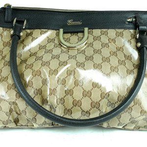 Gucci Crystal monogram D-Ring Abbey Tote Bag